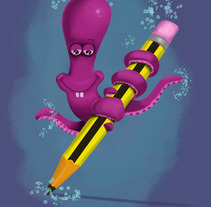 pulpo ilustrador. A Design, Illustration, and Advertising project by julilustrador         - 15.01.2013