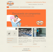 Web corporativa para Limpiezas Nacar. A Design, and Software Development project by Ana Quintela         - 09.02.2013