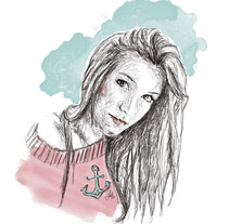 Ilustración línea y acuarela. A Illustration project by Ruth Domínguez - 18-02-2013
