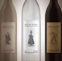 Aqua Vitae aguardiente. A Graphic Design, and Packaging project by Marcelo Garolla Artuso         - 31.03.2013