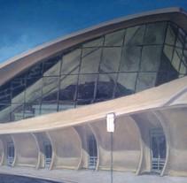 Mural JFK Terminal 5. Um projeto de Ilustração de David Sanjuán         - 25.04.2013