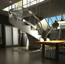 Sala de Estar/Comedor. A Installations, and 3D project by Elena Luque Pérez - 18-06-2013
