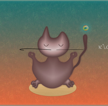 Gato zen. A Design&Illustration project by Karina  - 22-08-2013