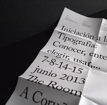 Cartel curso de tipografía. Un proyecto de Diseño de Dani Vázquez - 18-09-2013
