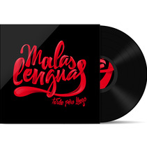 Malas Lenguas Vinyl Cover. A Design, Illustration, and Advertising project by Marc Valls         - 07.10.2013