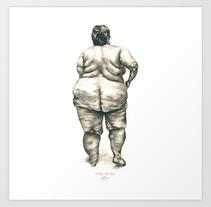 Mujer en la ducha. Um projeto de Ilustração de Cecilia Sánchez         - 11.10.2013