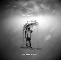Waiting in the rain. A Illustration project by Alberto Jiménez Sánchez         - 18.10.2013