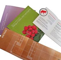 Catálogos, folletos, tripticos. Um projeto de Design e Publicidade de Beatriz Santos Sánchez         - 21.10.2013