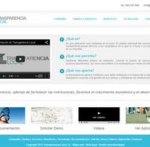 Transparencia Local WEB. A Design, Web Design, and Web Development project by Marta Arévalo Segarra         - 03.11.2013