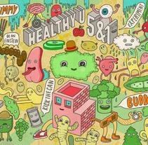 Healthy U. Um projeto de Design, Ilustração e Publicidade de Eduardo Bertone         - 28.11.2013