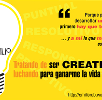 Soy Creativo ¿Y qué?. A Design, Illustration, and Advertising project by Emilio Rubio Arregui         - 29.11.2013