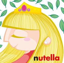 Sticker personalizado para Nutella. Un proyecto de Diseño e Ilustración de Iván Villarrubia - Sábado, 07 de diciembre de 2013 00:00:00 +0100