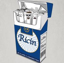 """Diseño de camiseta """"Ricin"""". Un proyecto de Diseño e Ilustración de Cristhian Roberto Pagoaga Aguilera - 10-10-2013"""