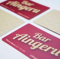 Diseño de Logo y tarjetas de visita para Bar Aingeru. Um projeto de Design de David Presa Altuna         - 26.12.2013