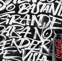 Coca-Cola Zero calligraphy. A Design project by Joluvian         - 08.02.2013
