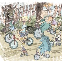 Riding in the forest. Un proyecto de Ilustración de Señor Rosauro         - 20.02.2014