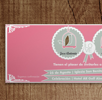 Invitaciones de Boda. A Design, Art Direction, and Graphic Design project by Álvaro Palmero Romero         - 06.03.2014