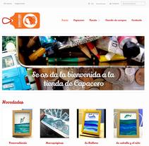 Tienda online para CAPACERO, estudio de diseño e ilustración.. Un proyecto de Arquitectura de la información, Diseño de la información y Desarrollo Web de Chelo Fernández Díaz - Lunes, 23 de diciembre de 2013 00:00:00 +0100