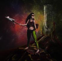 Guerrera del bosque. A Illustration project by walter swinney         - 16.03.2014
