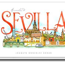 Cuaderno de Viajes de Sevilla. Un proyecto de Ilustración de JOAQUIN GONZALEZ DORAO - 11-03-2014