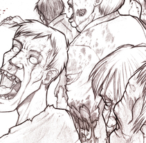 The Walking Dead - Comic Fan Art. A Illustration project by José A.  Gómez Caballero - 14-04-2011