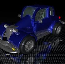 Carro estilo años 60 en 3D. A 3D project by Andres Torres A.         - 31.03.2014