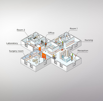 Saatchi isometric App. A Design, Illustration, Motion Graphics, Film, Video, TV, Animation, Graphic Design, and Multimedia project by Arq. Andrea Stinga         - 02.04.2014