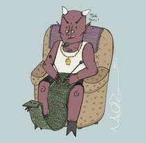 Las bufandas. A Illustration project by Marta Zabala         - 06.02.2014