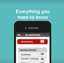 Go Conference App. A UI / UX, Art Direction, Events&Interactive Design project by Marc Tomas Arques         - 19.04.2013