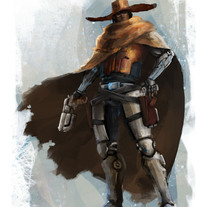 Cowboy concept . A Illustration, Character Design, and Fine Art project by David  Iglesias Martínez         - 09.05.2014