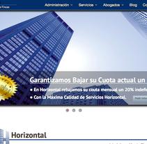 Horizontal Administración Fincas. Un proyecto de Diseño Web de Antonio M. López López - 10-05-2014