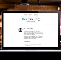 Blog RFSouto. A Br, ing, Identit, and Web Design project by Alex R Chies - May 13 2014 12:00 AM