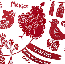 Invitaciones de boda. A Design, Illustration, Graphic Design, Product Design, and Screen-printing project by Bevero  - 30-08-2012