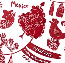 Invitaciones de boda. Un proyecto de Diseño, Diseño de producto, Diseño gráfico, Ilustración y Serigrafía de Bevero  - Viernes, 31 de agosto de 2012 00:00:00 +0200