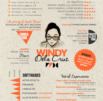 Creative CV. A Graphic Design, Information Design, T, and pograph project by Windy Dela Cruz         - 29.05.2014