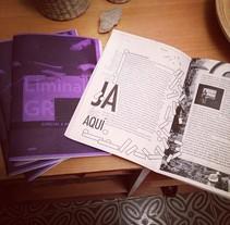 Liminal Gr - publicación. A Design, Editorial Design, and Graphic Design project by Mercedes Mangrane         - 05.06.2014