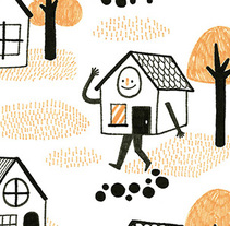 """Little Houses"". A Illustration, and Character Design project by Alejandra Morenilla - 13-06-2014"