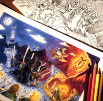 Ilustraciones hechas con técnicas tradicionales. A Illustration, and Character Design project by David Figuer - Jun 16 2014 12:00 AM