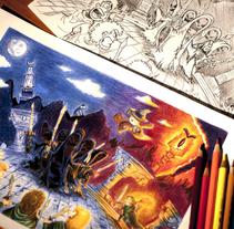 Ilustraciones hechas con técnicas tradicionales. Un proyecto de Diseño de personajes e Ilustración de David Figuer - Lunes, 16 de junio de 2014 00:00:00 +0200