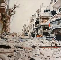 Espacios Habitados, pintura. A Illustration, Fine Art, L, scape Architecture, and Painting project by Nuria Fermín González         - 22.06.2014