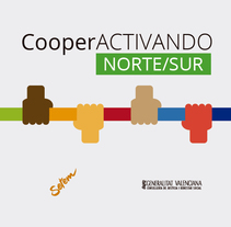 Cooperactivando Norte-Sur SetemPV. A Illustration, Graphic Design, and Web Design project by Ramon Chorques         - 28.06.2014