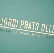 Autopromocional Jordi Prats Ollé (jordipratsolle.com). Un proyecto de Motion Graphics, 3D y Diseño gráfico de Jordi Prats Ollé         - 17.07.2014