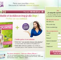 Design et Intégration de landing page pour Alliance Minceur. A Web Design project by Laure Chassaing         - 21.07.2014