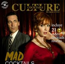Revista Culture Cocktails. Um projeto de Design, Direção de arte e Design editorial de Juliana Maruri         - 03.08.2014