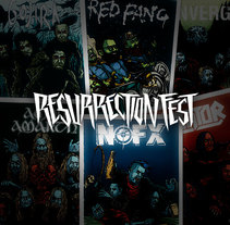 Resurrection Fest 2014 - Band Prints. A Illustration project by Marcos Cabrera - Aug 25 2014 12:00 AM