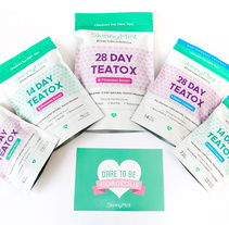 SkinnyMint Teatox. A Packaging project by Mara Rodríguez Rodríguez         - 08.09.2014