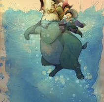 """YO MIMO MI MAR II"". A Illustration project by alicia borges  - Sep 09 2014 12:00 AM"