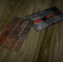 tarjetas de visita. A Graphic Design project by Jose Balaguer Aledon         - 23.09.2014