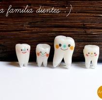 familia dientes. Un proyecto de 3D y Diseño de personajes de Ana  - 29-09-2014