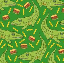 """burguerclub """"pattern"""". Um projeto de Design, Design de vestuário e Design gráfico de Susana López         - 01.10.2014"""